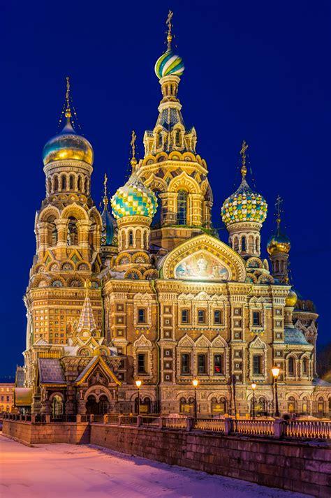 st petersburg  night russia