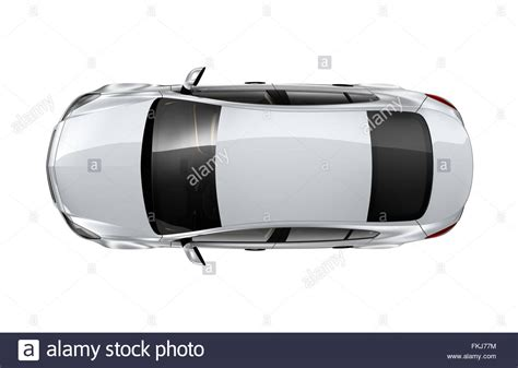 vehicle top view white car top view isolated on white stock photo royalty