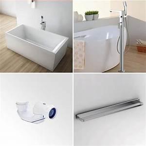 Robinet Baignoire Ilot : pack baignoire lot kobo 180x80 cm robinet mitigeur ~ Nature-et-papiers.com Idées de Décoration