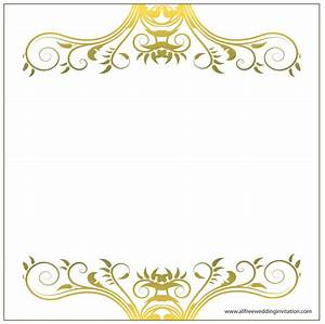 wedding invitation borders amulette jewelry With golden wedding invitation borders free download