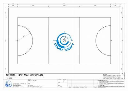 Netball Court Dimensions Drawing Dimension Length Width