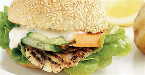 barbecued fish burgers