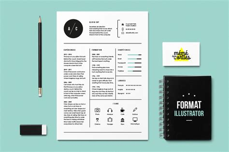 adobe illustrator templates cat resume template illustrator resume templates on creative market