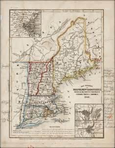 New Hampshire and Massachusetts Map