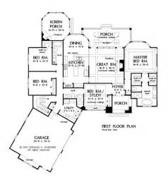 open concept floor plan one story house plans with split master and open concept