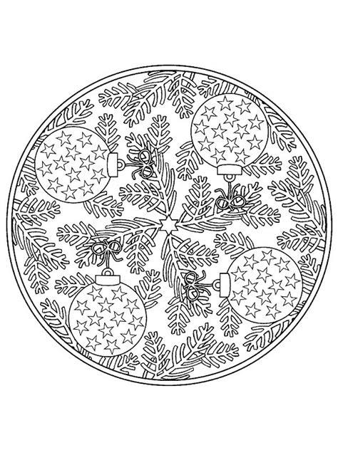 Kleurplaat Mandala Kerst by Kleurplaten En Zo 187 Kleurplaat Kerstmis Mandala Ballen
