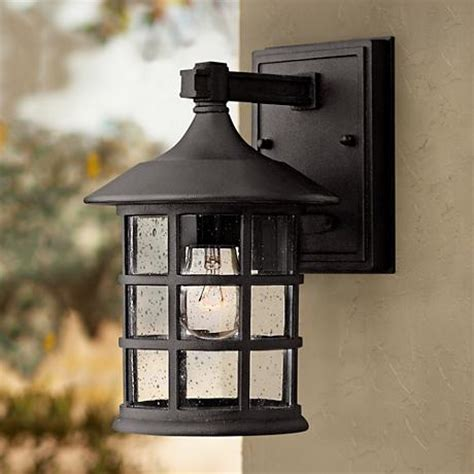 hinkley freeport black 9 1 4 quot high outdoor wall light
