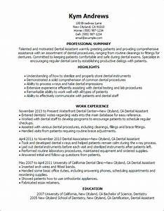 writing dental assistant resume effectively With dental assistant resume examples