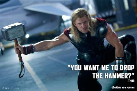 the avengers on twitter quot you want me to drop the hammer