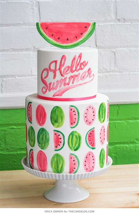 Sizzling Summer Birthday Cake  Ee  Ideas Ee   Pretty Party