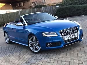 Audi S4 Cabriolet : 2010 audi s5 cabriolet 3 0 t fsi quattro s t convertible automatic petrol mot blue no m3 m5 m6 ~ Medecine-chirurgie-esthetiques.com Avis de Voitures