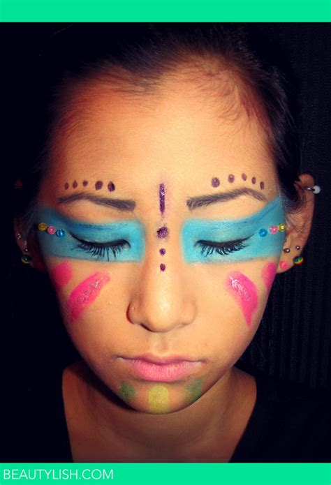 native american theme tribal makeup emmallyn bs photo