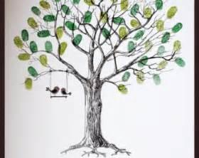 fall wedding guest book wedding fingerprint tree