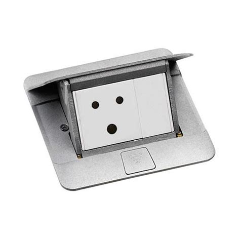 legrand floor boxes ip44 3 module pop up floor box matt aluminium 54010 legrand