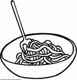Pasta Drawing Clipart Dinner sketch template