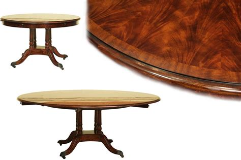 high round dining table round expandable formal mahogany dining table with leaves