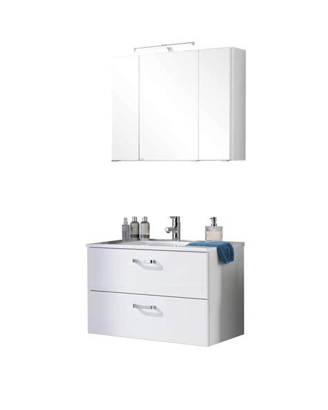 Badmöbel Set Waschtisch 80 Cm by Badm 246 Bel Set Ancona Mit Waschtisch 4 Teilig 80 Cm Breit