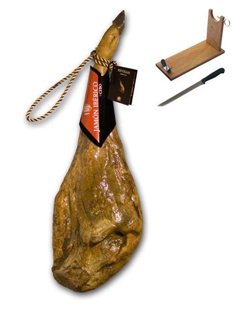 jambon pata negra ib 233 rique nourri au grain certifi 233 revisan porte jambon couteau 6 5 7 kg