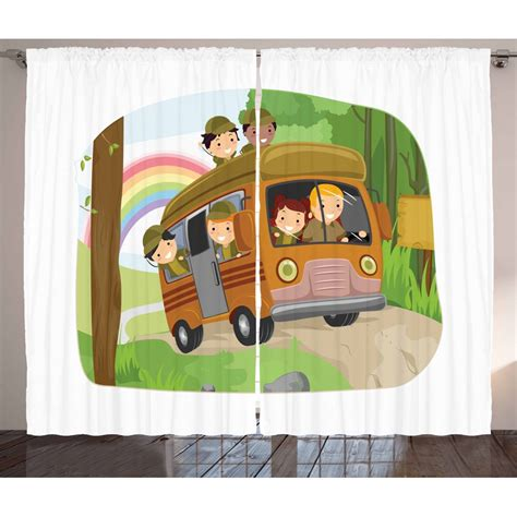 Children's curtains basically mean themed curtains. Camper Curtains 2 Panels Set, Boy Scouts Going Camping ...