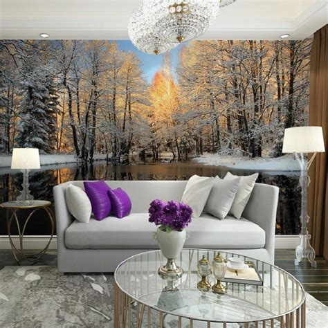 10 Living Room Designs With Wall Murals 20 living rooms with beautiful wall mural designs