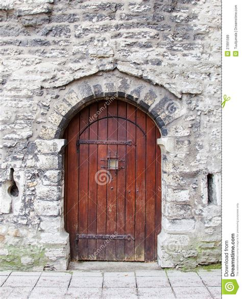 wooden arched door stock image image  front knock