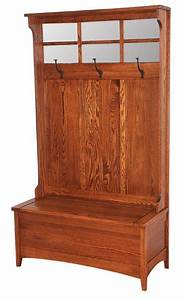 Amish Hall Shaker Bench with Storage