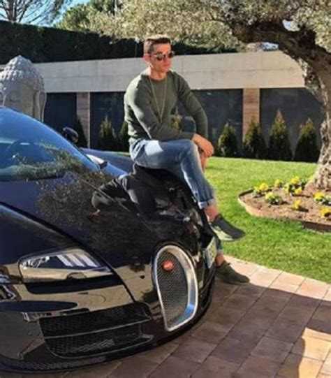 Bugatti veyron one of the most expensive cars in cristiano ronaldo's collection, the bugatti veyron costs approximately $1.7 million and has been named after the racing driver pierre veyron. Feast Your Eyes On Cristiano Ronaldo Sitting On A Bugatti Veyron