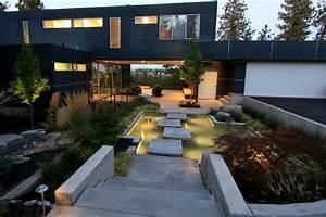 Gartengestaltung Mit Teich : meisterwerke in der modernen gartengestaltung ~ Markanthonyermac.com Haus und Dekorationen