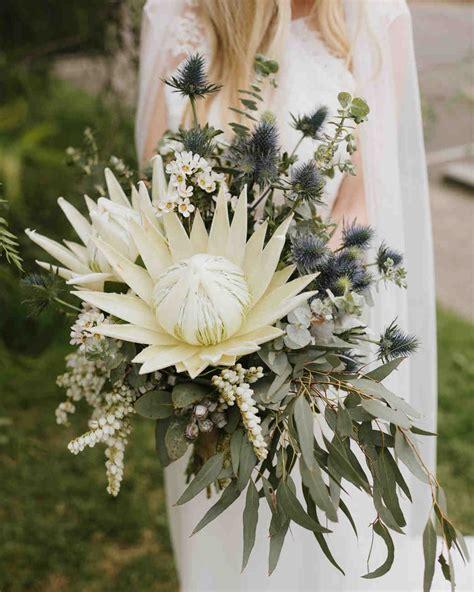 30 Amazing Protea Wedding Bouquets Martha Stewart Weddings