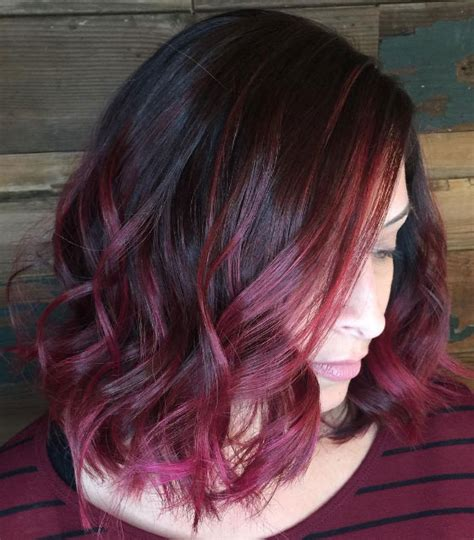 maroon hair color ideas  sultry reddish brown styles