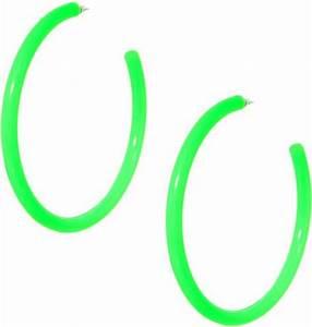 Asos Neon Plastic Hoop Earrings in Green