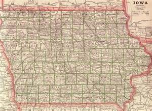 State of Iowa Counties Map
