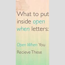 What To Put Inside Of Open When Letters For Your Boyfriend