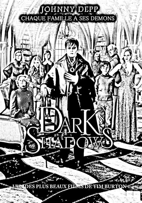 Movie dark shadows - Movies Adult Coloring Pages