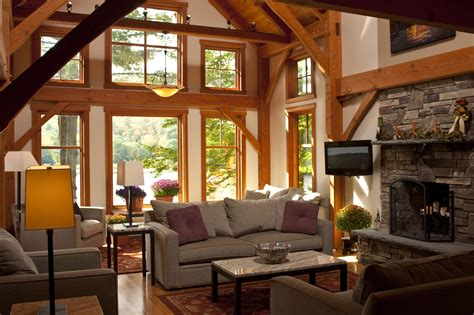 Vermont Lake House  Timber Frame Home  Bensonwood