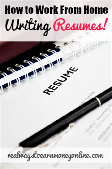 Work From Home Resume Writing by How To Work From Home Writing Resumes