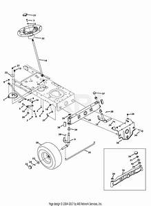 Mtd 13ax795s004  2013  Parts Diagram For Front End Steering