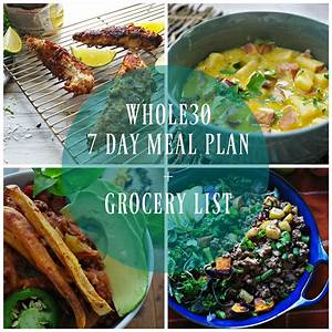 Whole30 7 Day Meal Plan With Grocery List