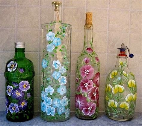 ideas using glass bottles repurposed glass bottles into creative decorations