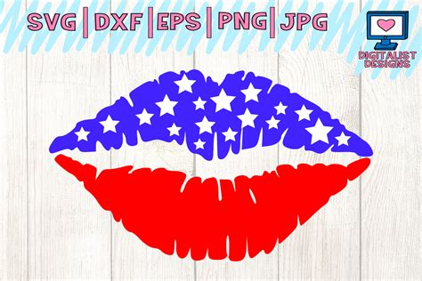 Svg files & cricut crafts. American flag lips svg. Graphic by digitalistdesigns ...