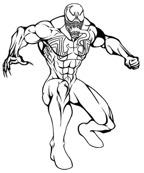 spiderman  venom coloring pages coloring home