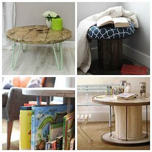 Diy Deco Recup : touret table basse et tabouret inspirations de d co r cup 39 ~ Dallasstarsshop.com Idées de Décoration