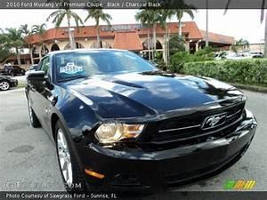 Black - 2010 Ford Mustang V6 Premium Coupe - Charcoal Black Interior | GTCarLot.com - Vehicle ...