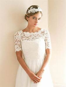 bridal shrug bridal cover up wedding bolero lace topper With wedding dress topper