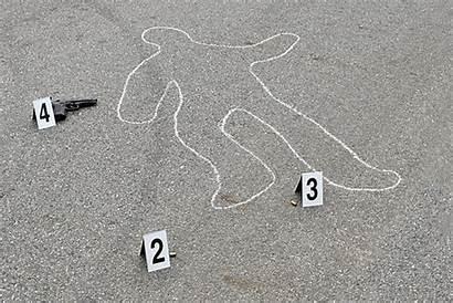 Outline Dead Murder Chalk Mystery Clipart Scene