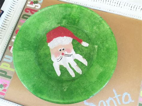 diy cookies  milk set  santa   kids handprint