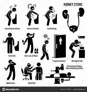 Kidney Stone Icons Pictogram Diagrams Depict Signs