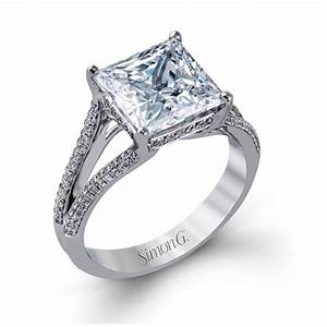 simon g style mr2257 white gold engagement ring with With wedding rings with a big diamond