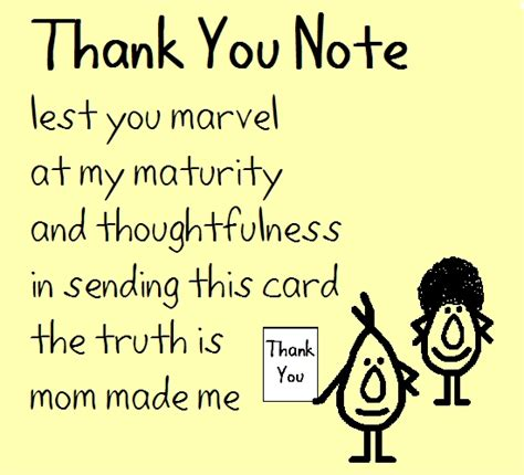 Thank You Note - A Funny Poem. Free For Everyone eCards
