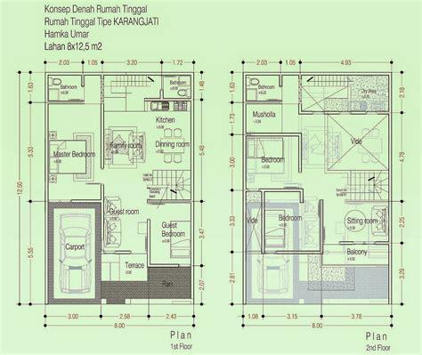 desain rumah minimalis  lantai autocad desain rumah